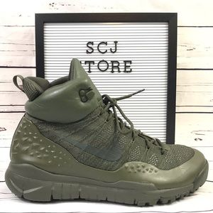Nike Lupinek Flyknit Olive Green Men's Size 11 NEW
